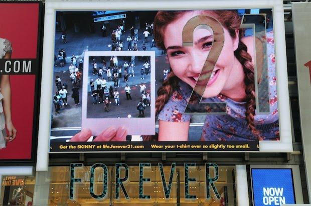 Times Square: contenuti innovativi per Forever 21