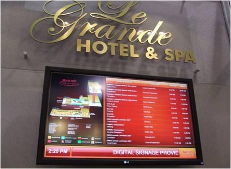"Digital Signage per l'albergo ""Le Grande Hotel & Spa"" di Las Vegas"