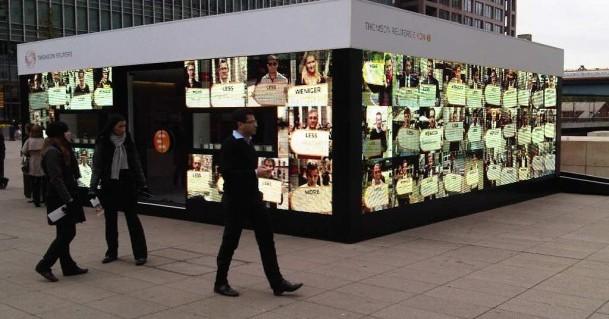 Londra: il più lungo LED outdoor del mondo per Thomson Reuters