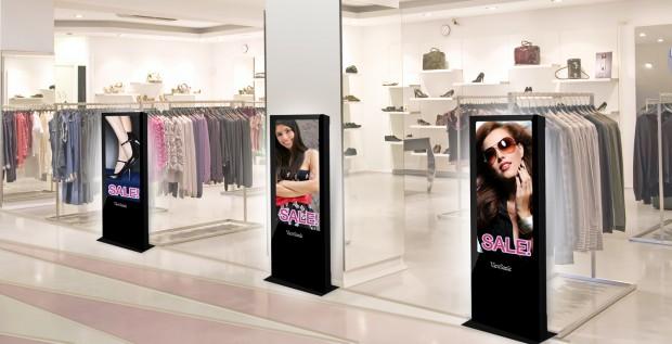 Il Digital Signage valorizza il negozio di abbigliamento