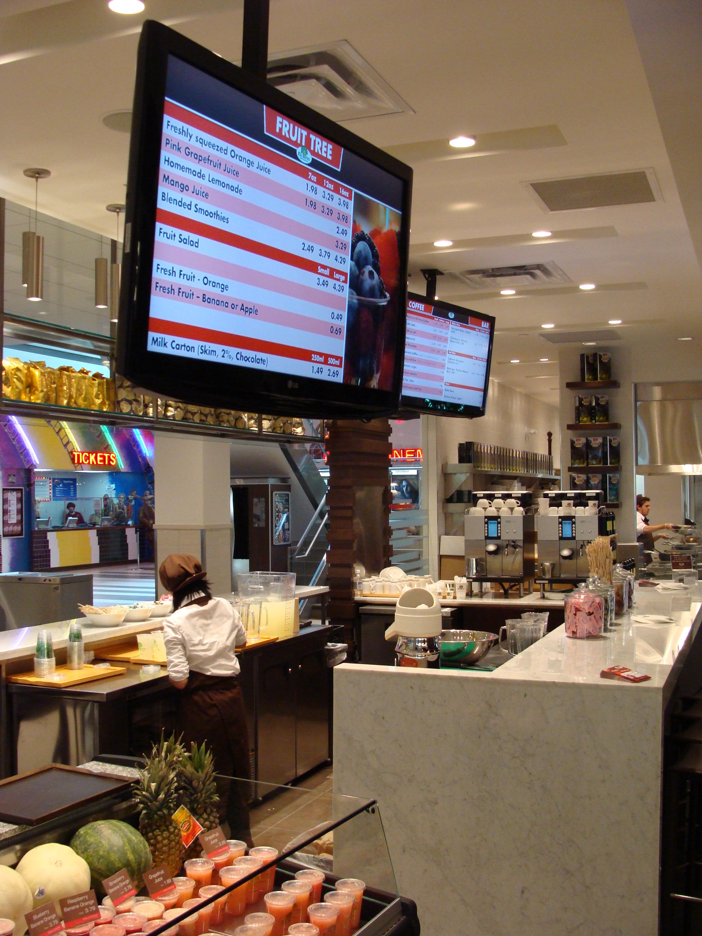 Il Digital Signage fidelizza i clienti del bar