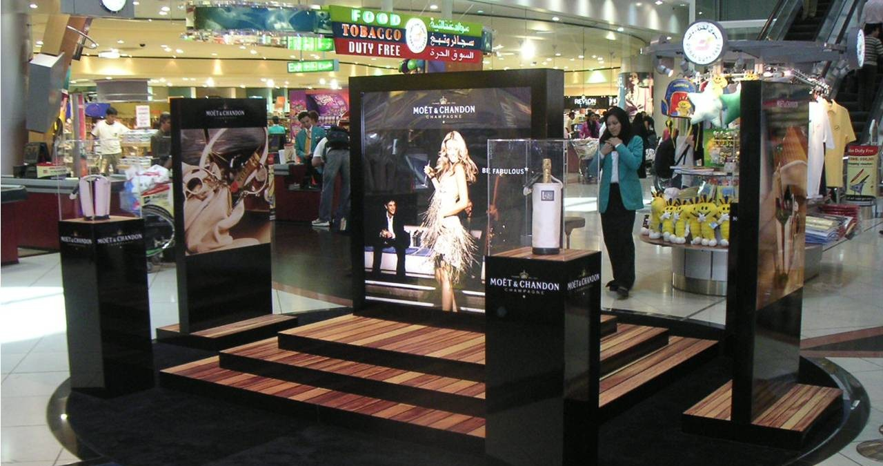Digital Signage all'aeroporto di Dubai