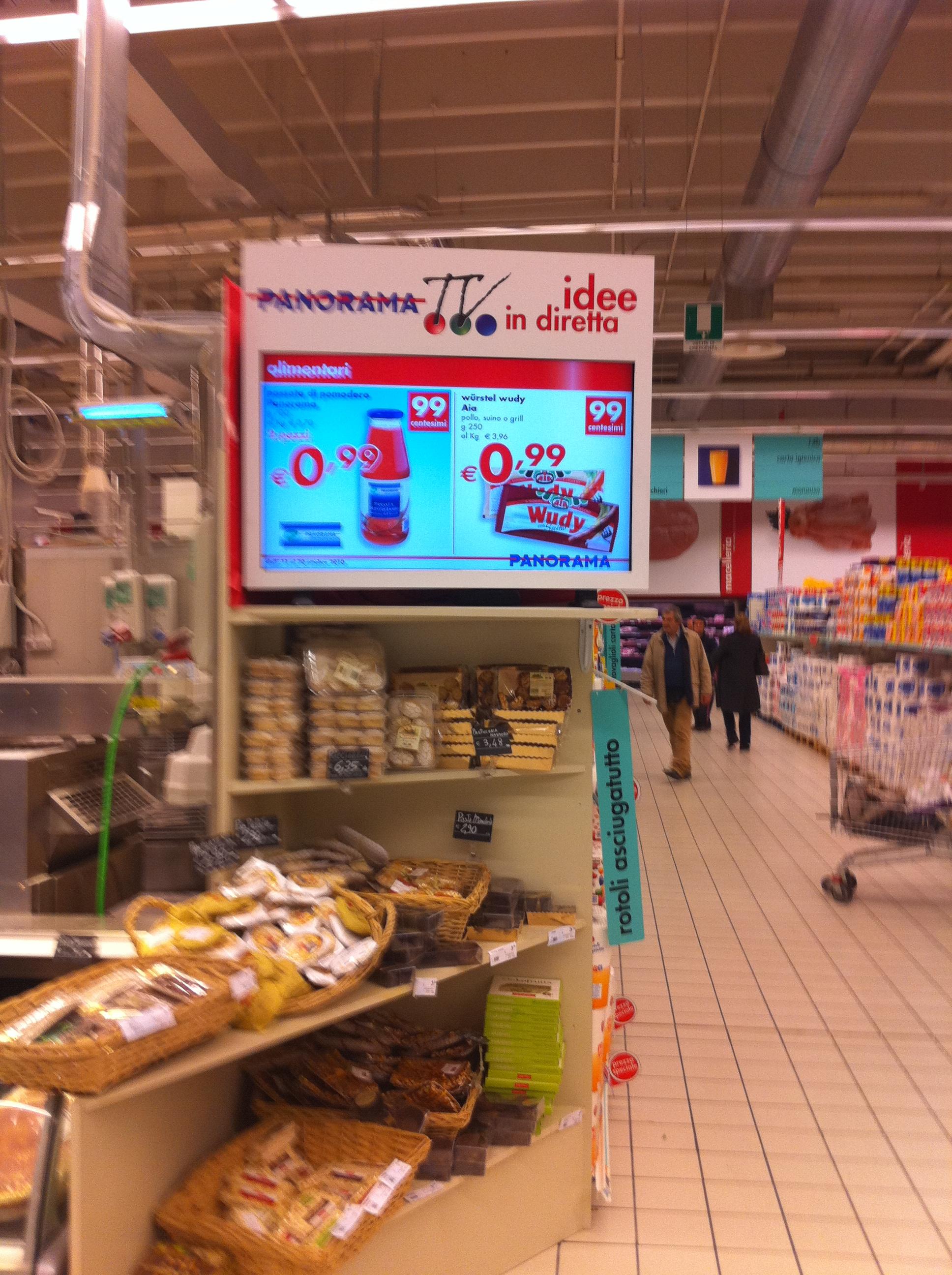 Panorama TV: digital signage al servizio del cliente