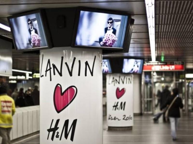 Austria: campagna digitale per H&M nella metro di Vienna