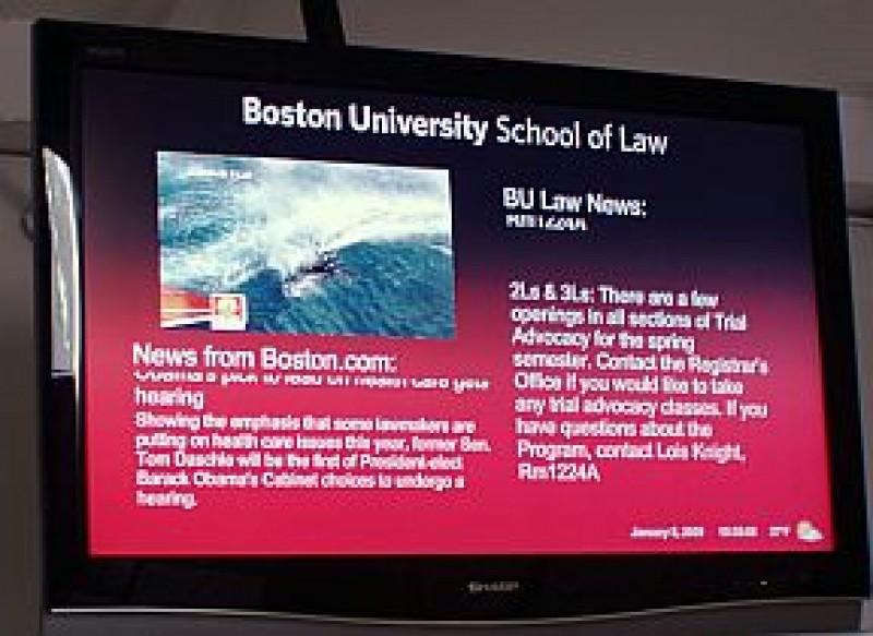 USA: Digital Signage per la Boston University