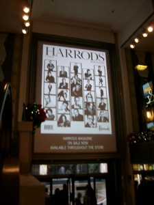 Harrods, monitor digitale