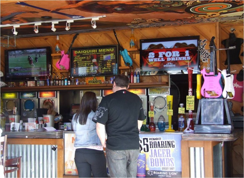 Las Vegas: fast food con schermi digitali
