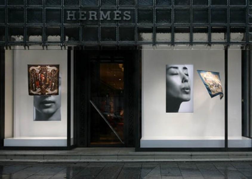 Giappone: vetrina interattiva per la Maison Hermès