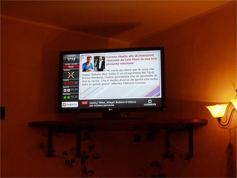 Italia: monitor OverTv per un ristorante a San Antonio di Gallura