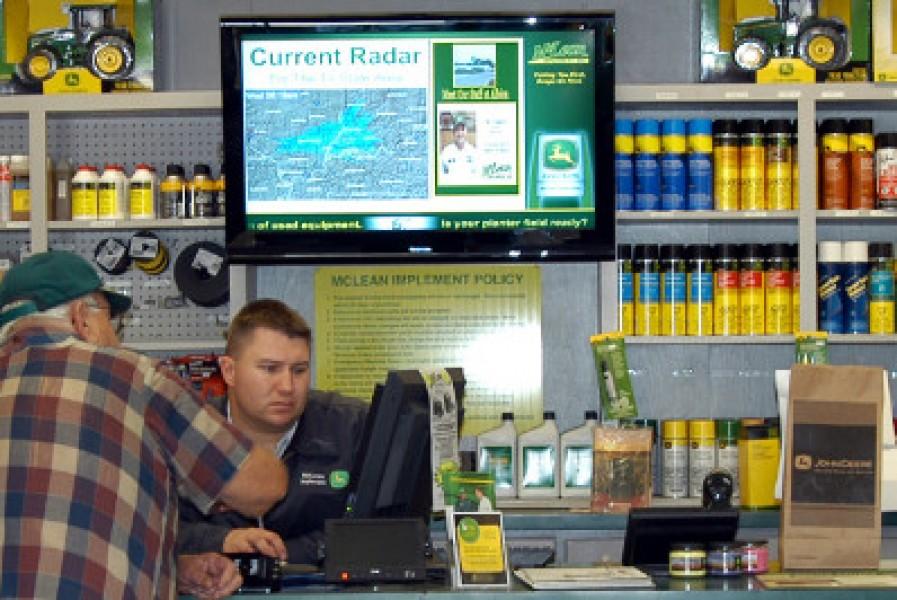 USA: schermi digitali nei negozi di prodotti per l'agricoltura