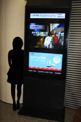 Digital Signage nella metro di Singapore