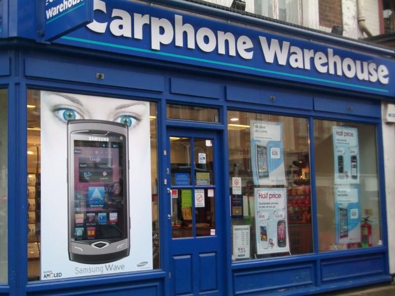 Regno Unito: vetrina interattiva per Carphone Warehouse