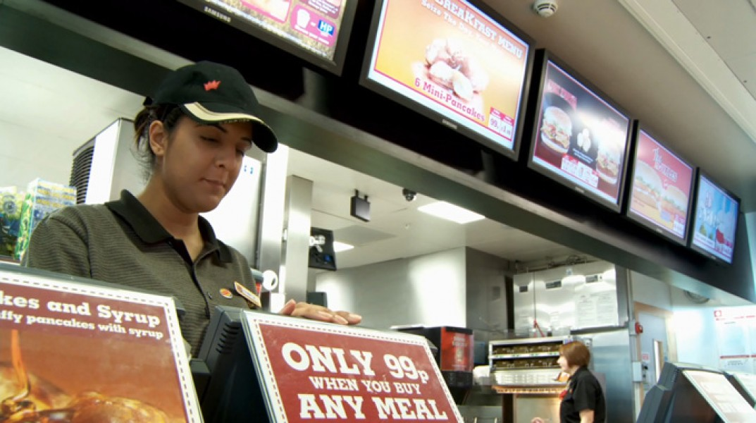 Regno Unito: menu digitali per Burger King