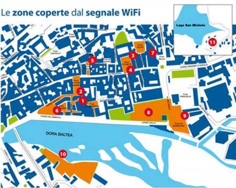 Ivrea: Wi-Fi gratuito nelle piazze della città
