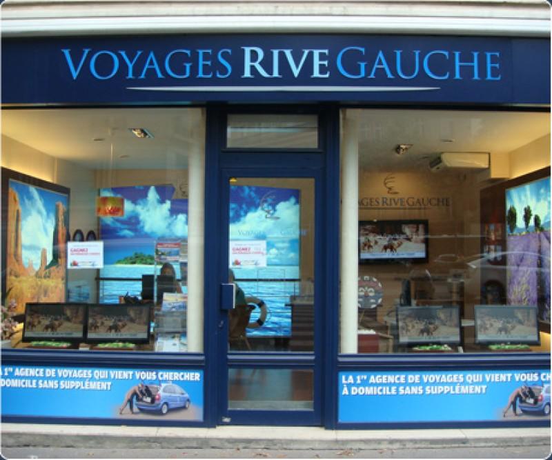 Parigi: Digital Signage per le agenzie viaggi Voyages Rive Gauche