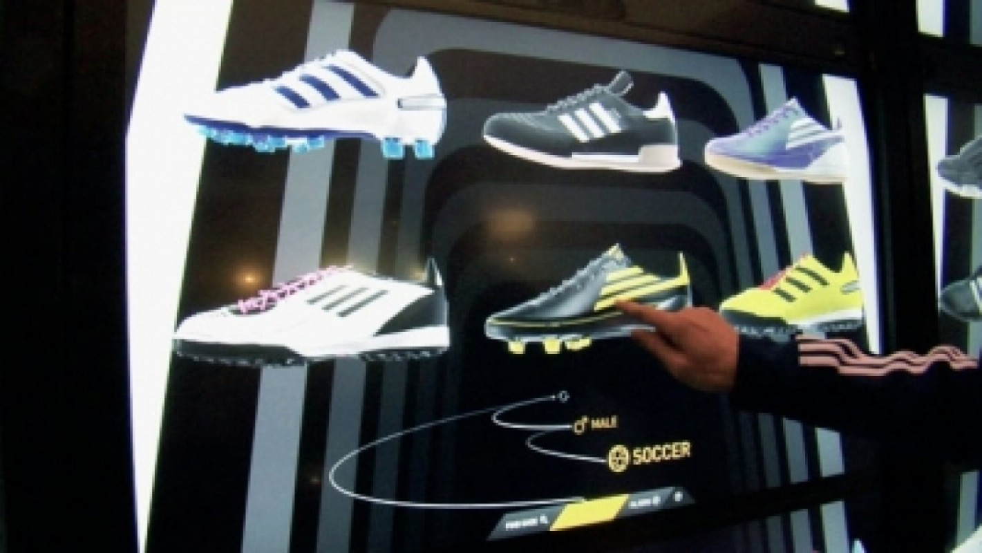 Intel Connected Store: le scarpe Adidas in 3d