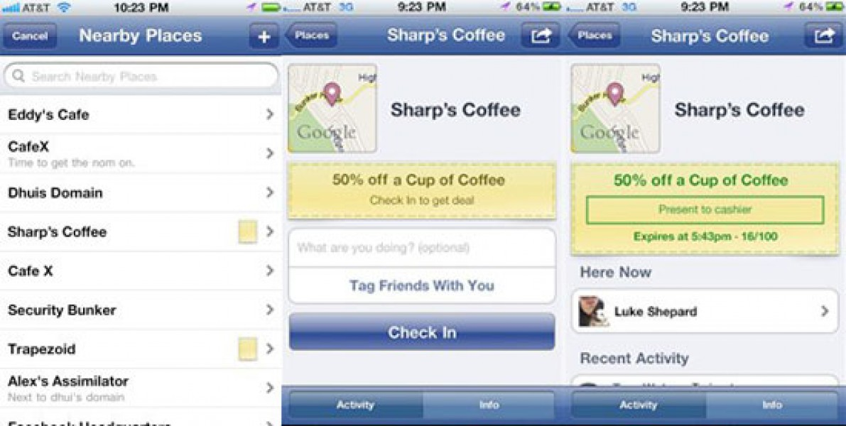 Facebook Deals: facciamo chiarimento e compariamo con FourSquare