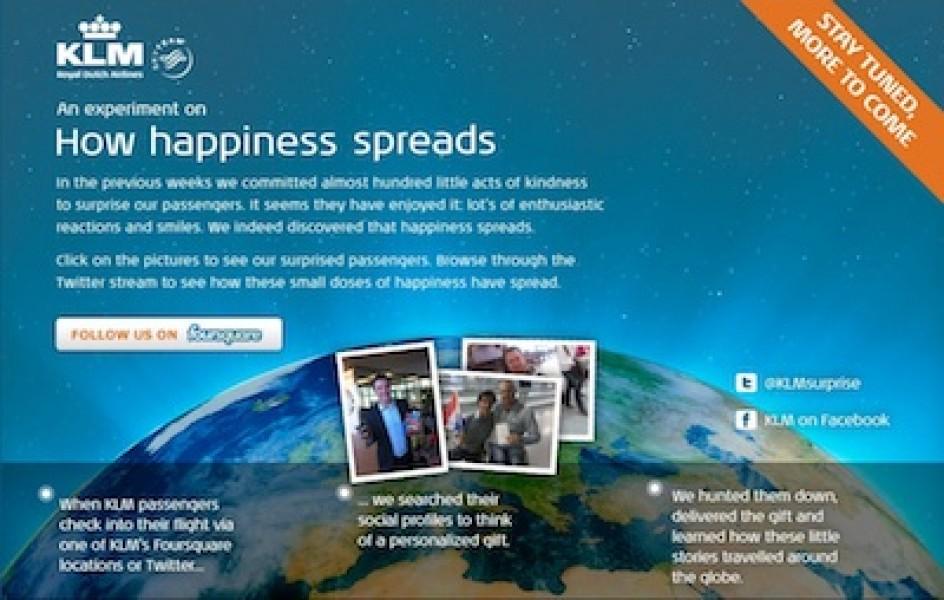KLM Surprise: come usare i social media per rendere felici i consumatori