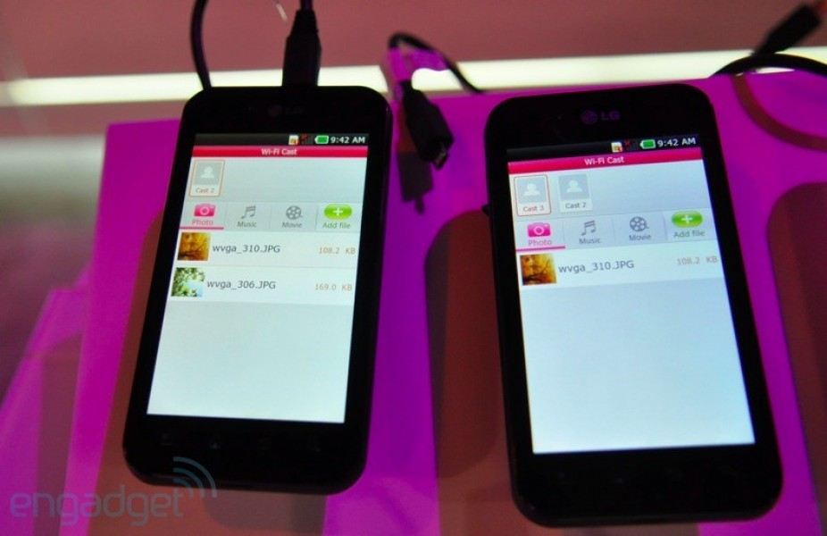 LG Optimus Black mostra il Wi-Fi Direct
