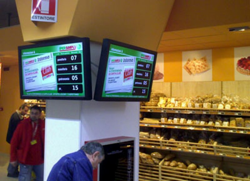 Digital Signage: Eliminacode multireparto