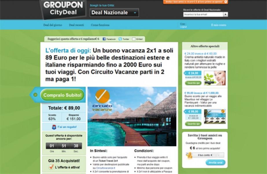 Groupon (Gruppi d'acquisto) per acquistare beni e servizi a prezzi scontatissimi!
