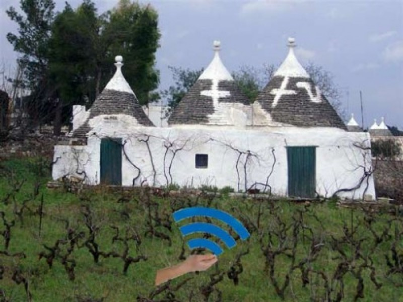 Wi-Fi gratis: la rete arriva nei trulli di Alberobello