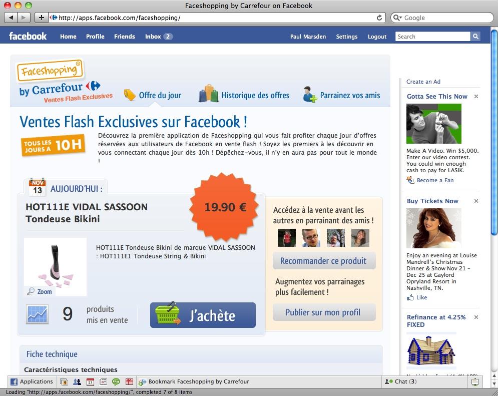 Ecommerce su Facebook: Deals, Places ed altre novità
