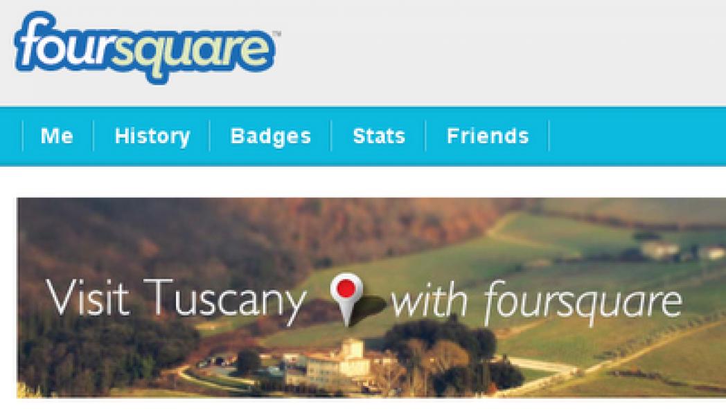 Foursquare branded page: l'esempio di Visit Tuscany