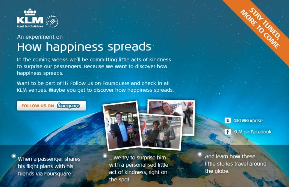 KLM lancia una campagna innovativa su Foursquare