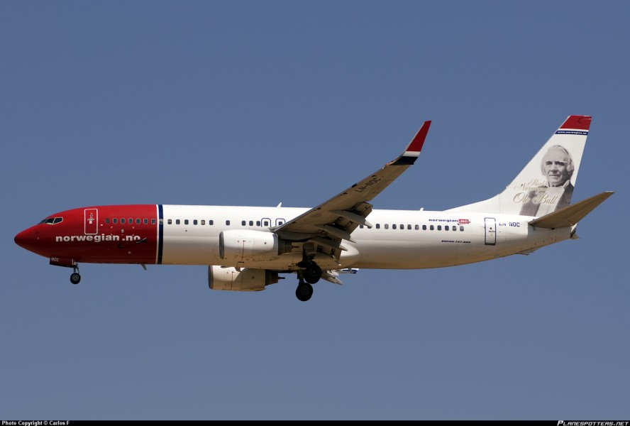 Wi-Fi a bordo della Norwegian Airlines