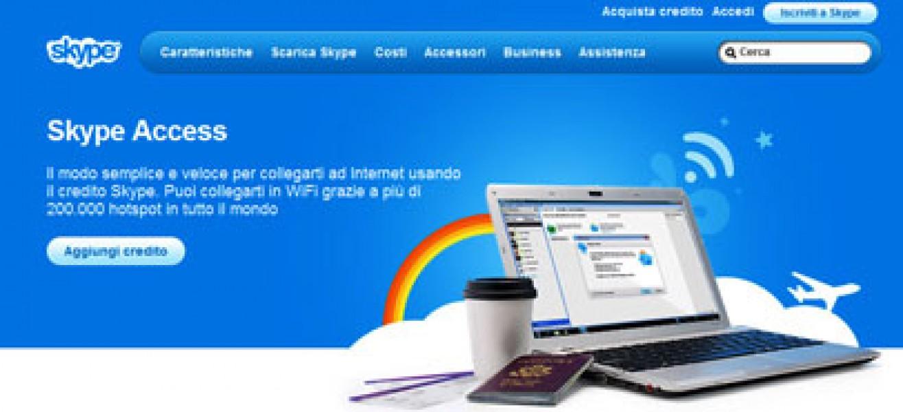 Skype: più Wi-Fi per tutti