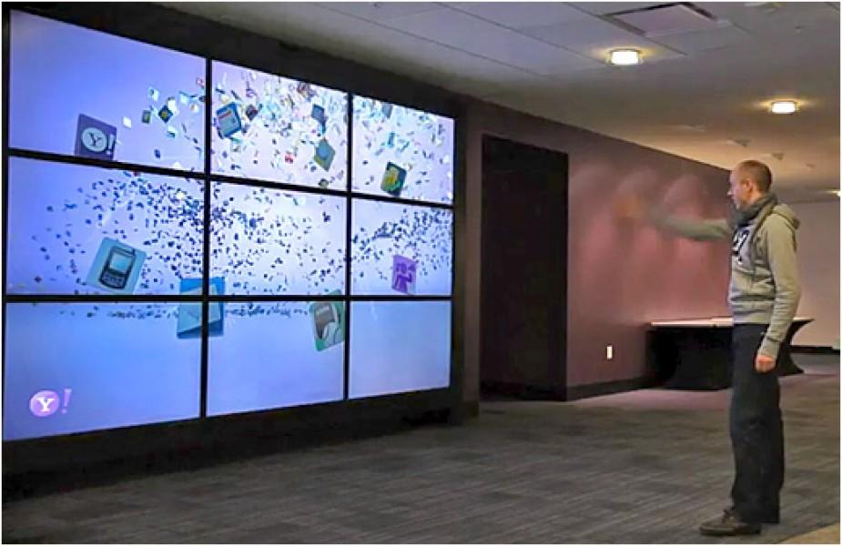 La parete interattiva di Yahoo