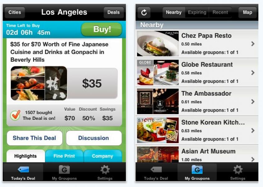 Groupon arriva su iPhone con una applicazione