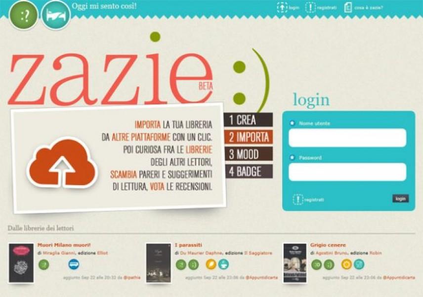 Arriva Zazie, il social network dei lettori italiani