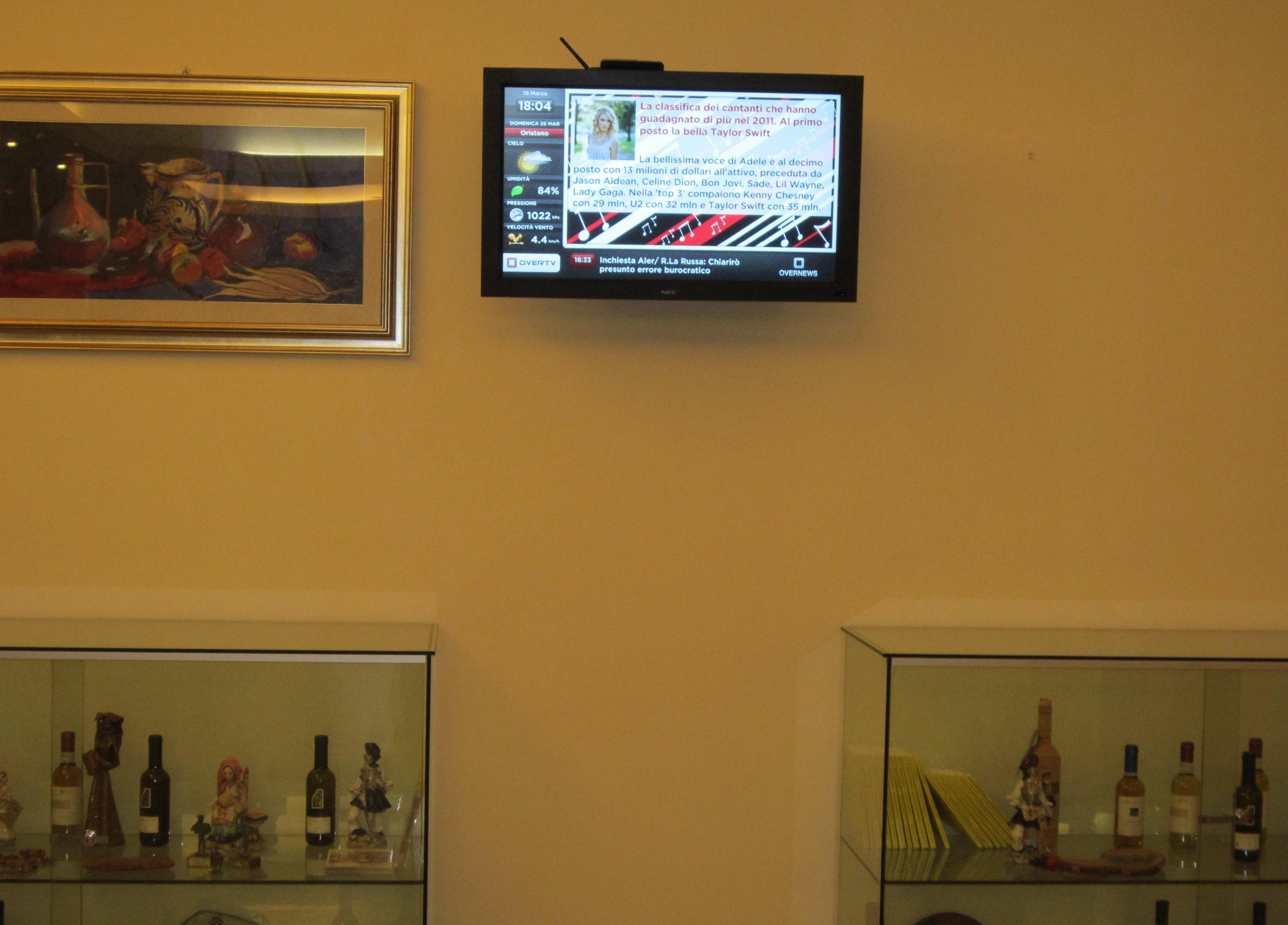 Si accendono gli schermi della SolutionBox all'Hotel Grazia Deledda di Sassari!