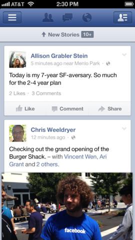 Facebook, arrivano nuove funzioni sulle App per iOS