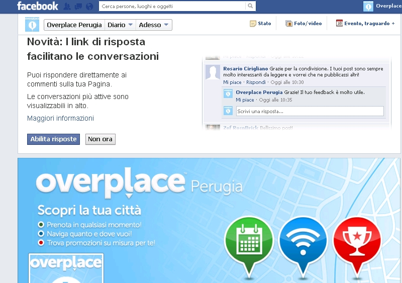 Overplace facebook, un successo very social: toccata quota 10mila like