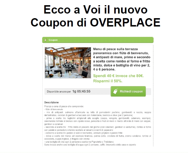 Coupon, con Overplace conviene sempre