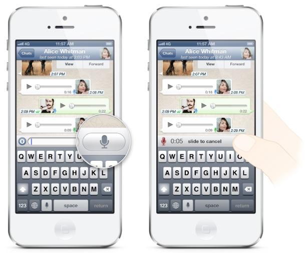 Whatsapp, arrivano i messaggi vocali in stile Wechat