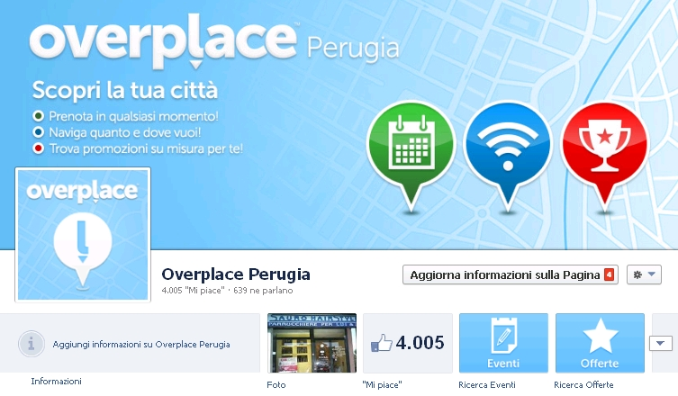 Boom Overplace, la pagina Facebook di Perugia tocca i 4mila like