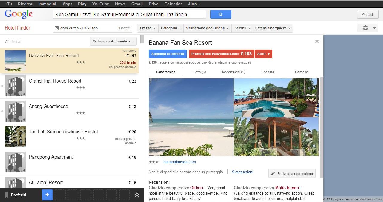 Google alla conquista del mercato dei viaggi, potenziata ricerca mobile per hotel