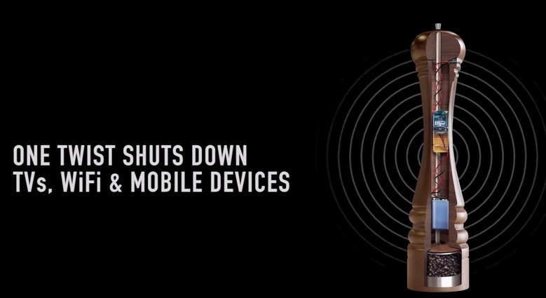Pepper Hacker, il macinapepe che disattiva Wi-Fi, Tv e App